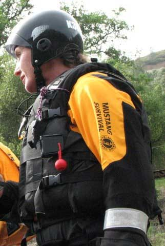 First responder geared up in Mustang Survival