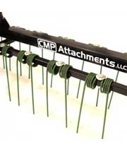 CMP Attachments 0-turn front mount residential dethatcher