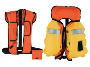 md1127 22 twin chamber aviation inflatable life preserver