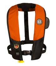 MD3183 02 hydrostatic automatic inflatable pfd orange