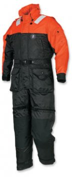 MS2175 Deluxe Anti-Exposure Coverall Worksuit by Mustang Survival in orange and black
