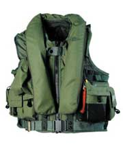 MSV972 rotary wing aircrew integrated survival vest sage green